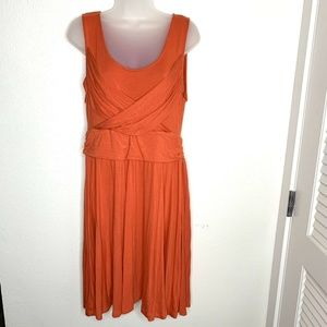 ❤️ ELLE Sleeveless Sheath Dress Red Orange Short